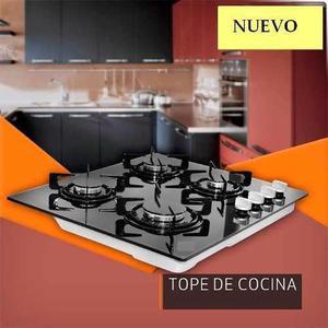 Tope De Cocina 4 Hornillas Vitrocerámica 60cm A Gas