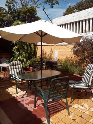 Juego comedor coctel barra mesa silla jardin patio posot for Comedor jardin