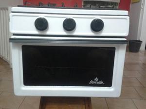 Cocina 4 hornillas a gas horno doble cristal posot class - Cocina con horno ...