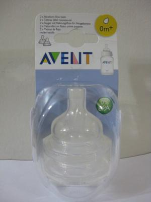 Set De 2 Tetinas Avent Phillips, 0m +