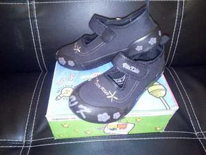 Zapato Vita Kids Escolar Colegial Niña Negro 27 Al 30