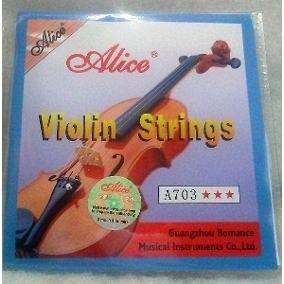 Juego De Cuerdas Para Violin Alice A703