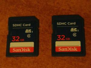 Tarjeta De Memoria Sd Sdhc Sandisk 32 Gb Clase 4
