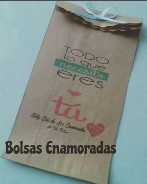 Bolsas Personalizadas Amor Amistad San Valentin Enamorados