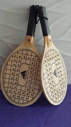 Raquetas De Playa De Madera Marca Champion Originales