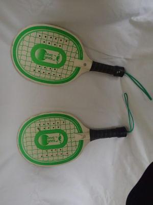 Raquetas Tenis Playa Madera Deporte Raketa