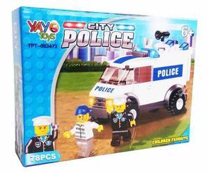 Lego Police 78 Piezas Juego Armable Yayo Toys Armable