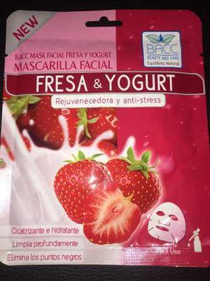 Mascarilla Facial Fresa Y Yogurt