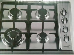 Cocina 4 hornillas premium de vidrio templado posot class for Cocina 02 hornillas