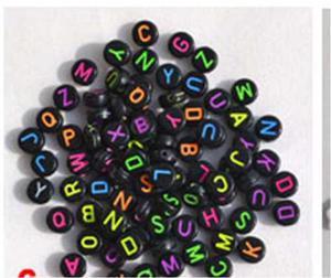 Paquetes De 125 Dijes Cubos De Letras De Colores. Y Redondos
