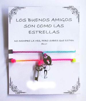 Pulsera Multicolor Amistad Amor Incluye Bolsa De Regalo 14