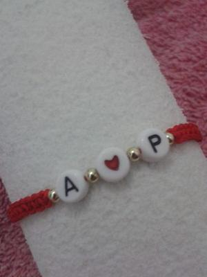 Pulseras Personalizadas Parejas Letras Iniciales Bae Nombres