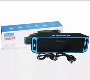Corneta Beats Led 208 Portatil Bluetooth Usb Pendrive Sd Aux