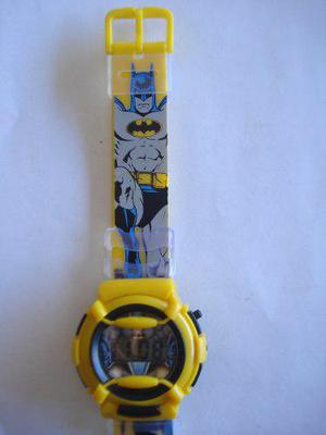 Reloj Digital Para Niños De Batman En Color Amarillo Y Azul