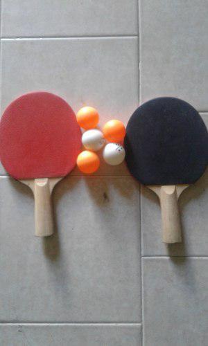 Venta De Juego De Raquetas Para Ping Pong, Usadas.