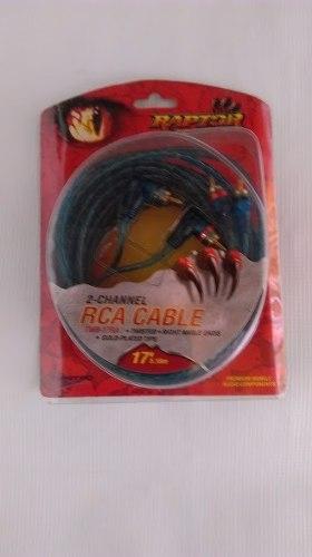 Cable Rca 17 Pies 5.20 Metros Marca Raptor