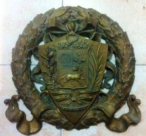 Escudo De Venezuela De Pared En Bronce
