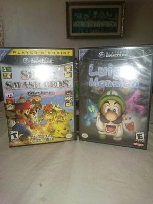 Super Smash Bros Melee Luigis Mansion Gamecube Como Nuevos