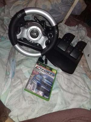 Volante De Xbox Y Ps2 + Juego De Forza Xbox Clasico Original