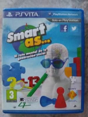Juego Smart As... Para Ps Vita