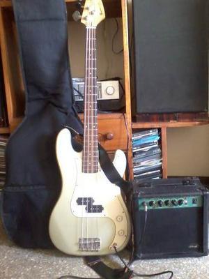 Bajo Electrico 4 Cuerdas Fretmaster K Series + Ampificador