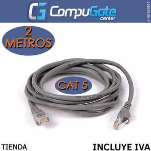 Cable Patch Cord Categoria 5 De 2 Metros Cat5 Alta Calidad