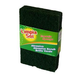 Esponja Abrasiva Pack De 3 Unidades Limpia Sol