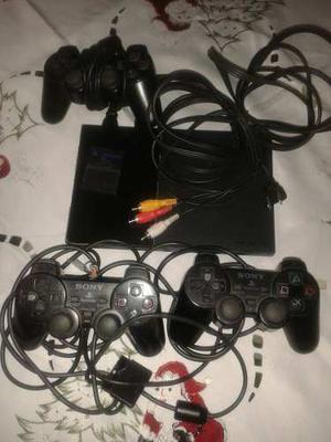 Playstation 2 Con Dos Controles Y Memori Card De 8 Mb