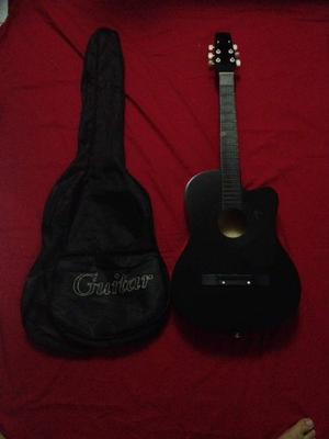 Guitarra Acustica (con Forro Y Cuerdas Nuevas En Su Empaque)