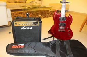 Guitarra Electrica Esp Viper + Amplificador Marshall Mg 15w