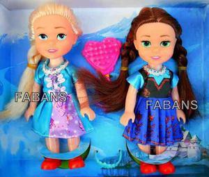 Juguetes Frozen Set 2 Muñecas Elsa Anna Figuras Niña