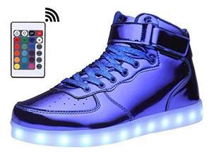 Zapatos De Luces Led Usb Recargables Y Control