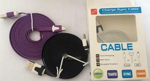 Cable Cargador Samsung Micro Usb Plano, Blackberry, Lg, Htc