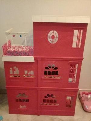 Casa Mansión De La Barbie Grande Con Accesorios