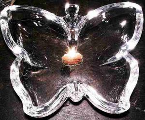 Cenicero De Cristal Marca Buder En Forma De Mariposa En Perf