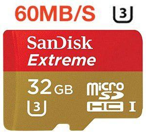 Memoria Sandisk Micro Sd 32 Gb Clase 10 Extreme 60mbs