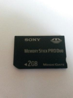 Sony Memory Stick Pro Duo De 2gb + Adaptadores Sony