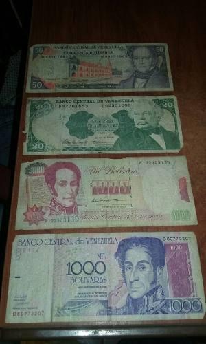 Billetes Antiguos De Venezuela Y Otros Países Fuera De