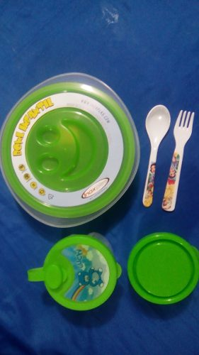 Comida Combo Maternal Dispensador Leche Bowl Cubierto