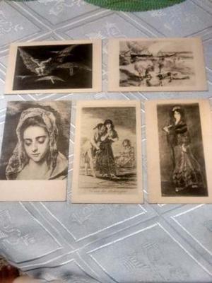 Postales Antiguas, Lote De Cinco