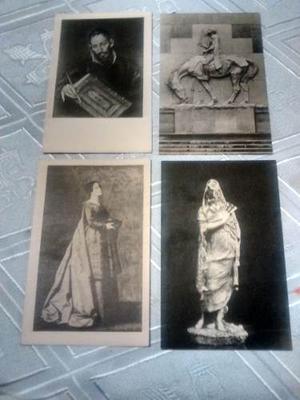 Postales Antiguas, Lote De Cuatro Ejemplares