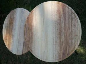 Tabla - Plato Para Pizza 25cm Elaborado En Madera