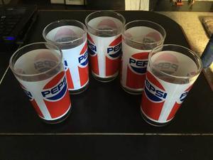 5 Vasos Pepsi Cola Coleccionables