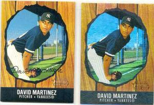 Combo 2 Barajitas David Martinez Yankees Bowman