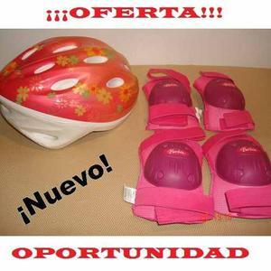 Kit De Protección Infantil Para Usar Patines Niña Barbie