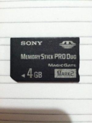 Vendo Memory Stick Duo Psp Sony Original 4gb