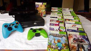 Xbox 360 Con Kinet Y 2 Controles Y 22 Juegos