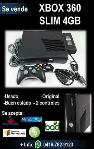 Xbox 360 Slim 4gb En Perfecto Estado