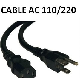 Cable Alimentación Fuente De Poder 15amp