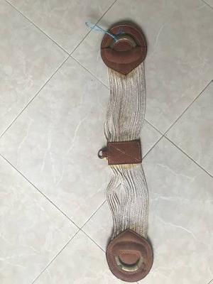 Cincha De Nylon Con Tapas De Cuero Para Sillas De Caballos.
